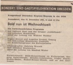 1984 KGD Weihnachtskonzert Hygiene Museum