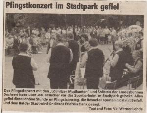 1985 Pfingstkonzert im Stadtpark