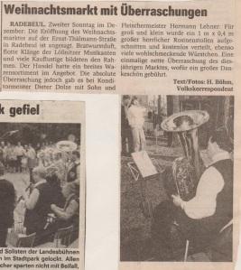 1986 Weihnachtsmarkt Radebeul
