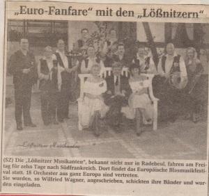 1990 SZ Fahrt nach Frankreich